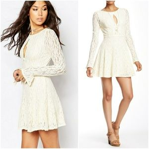Free People Ivory Lace Teen Witch Dress XS